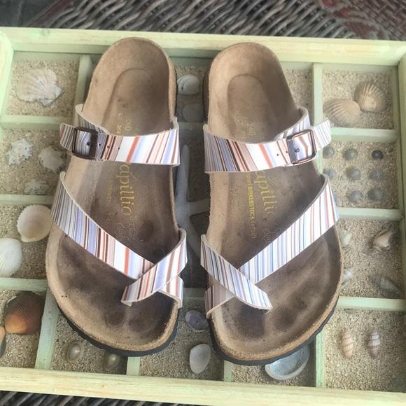 4e34af045762 Birkenstock. papilio Shoes - Birkenstock. PAPILLOO Striped sandals MAYARI
